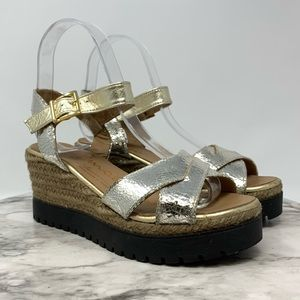 Anthro//Giamo Made in Spain Espadrille wedge 5.5